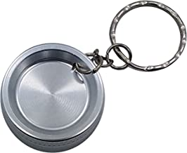 Silver Mini 2-Piece Aluminum Keychain Spice & Herb Grinder from Smoke Promos