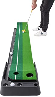 Abco Tech Indoor Golf Putting Green – Portable Mat with Auto Ball Return Function –..