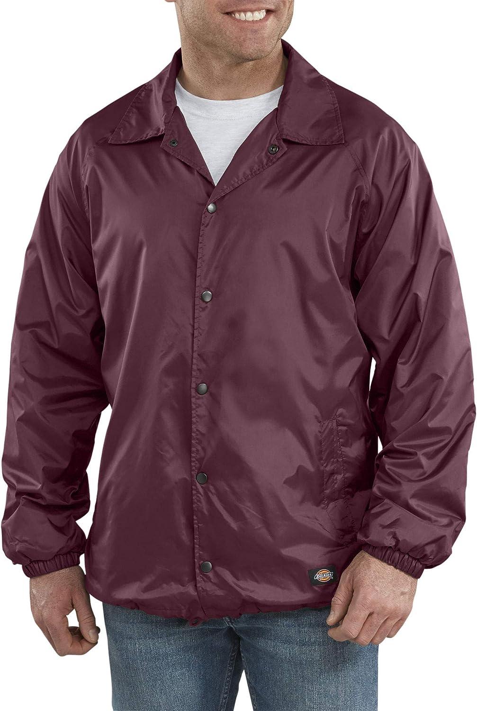 Dickies Men's Snap Front Nylon Jacket Big