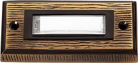Heidemann 70301 Klingelplatte with Namensschild 1fach Bronze 24 V/1A