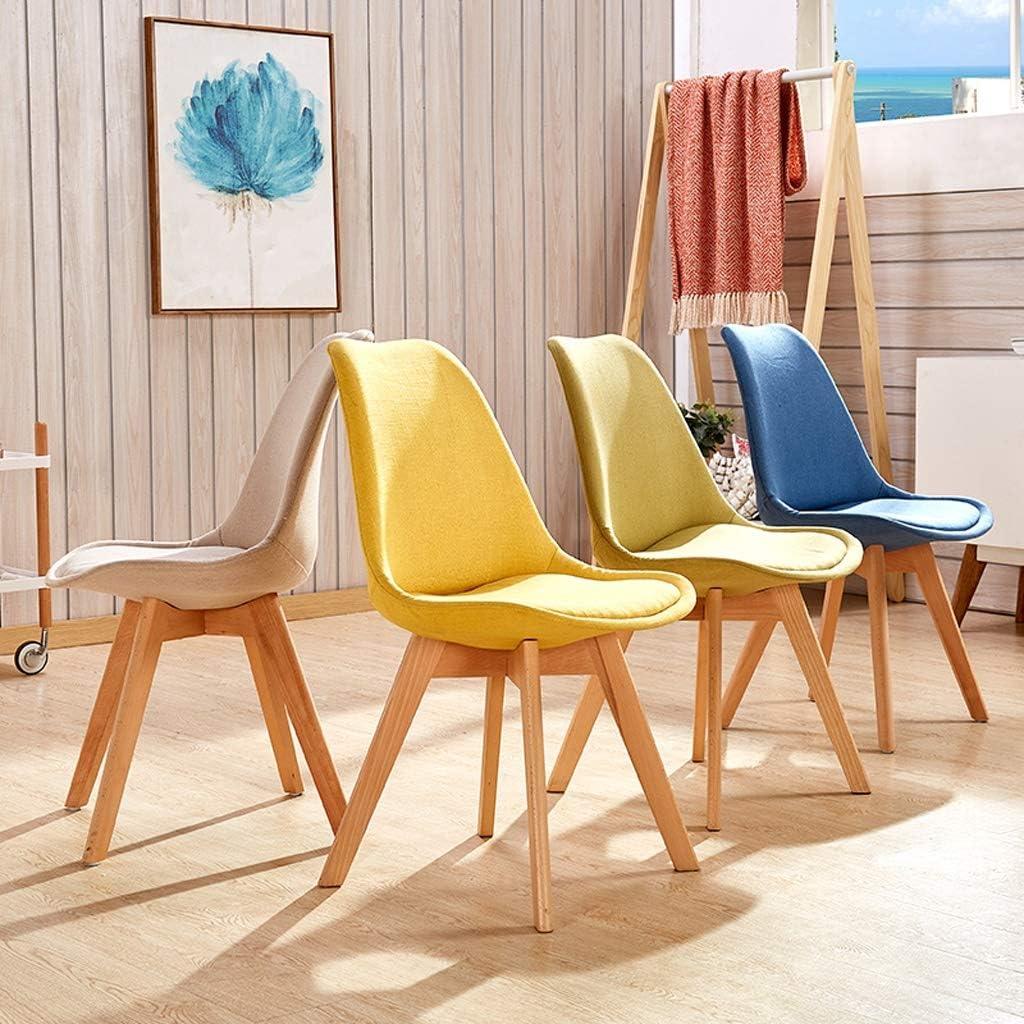 WDX- Chaise de Salle, Chaise de Bureau Simple, créative Dossier, Chaise Loisirs, Maison Adulte Chaise de Salle Confortable (Color : Blue-B) Beige