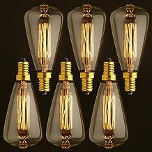 h/ôtel Bar d/écoration de f/ête Lot de 2 Sroomcla Ampoule Flamme Flamme E14 Flamme vacillante pour No/ël Maison