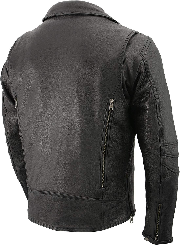 Milwaukee Mens Vented Updated Motorcycle Jacket Black, XXX-Large