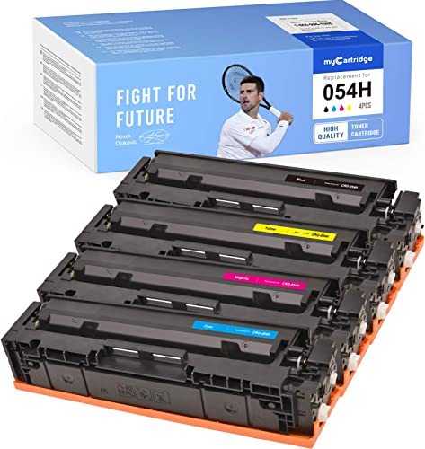 lowest MYCARTRIDGE Compatible Toner Cartridge Replacement for Canon 054H 054 use with i-SENSYS MF643CDW Color imageCLASS MF642CDW sale LBP620C Series (Black, Cyan, Magenta, Yellow, online sale 4-Pack) online