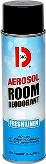 Big D Industries 430 Aerosol Room Deodorant, Fresh Linen Scent, 15 oz Can (Case of 12)