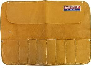 Faithfull Leather Chisel Roll - 8 Pocket