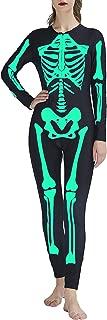 Women/Girls Halloween Costumes Bodysuit Jumpsuit Skeleton Catsuit