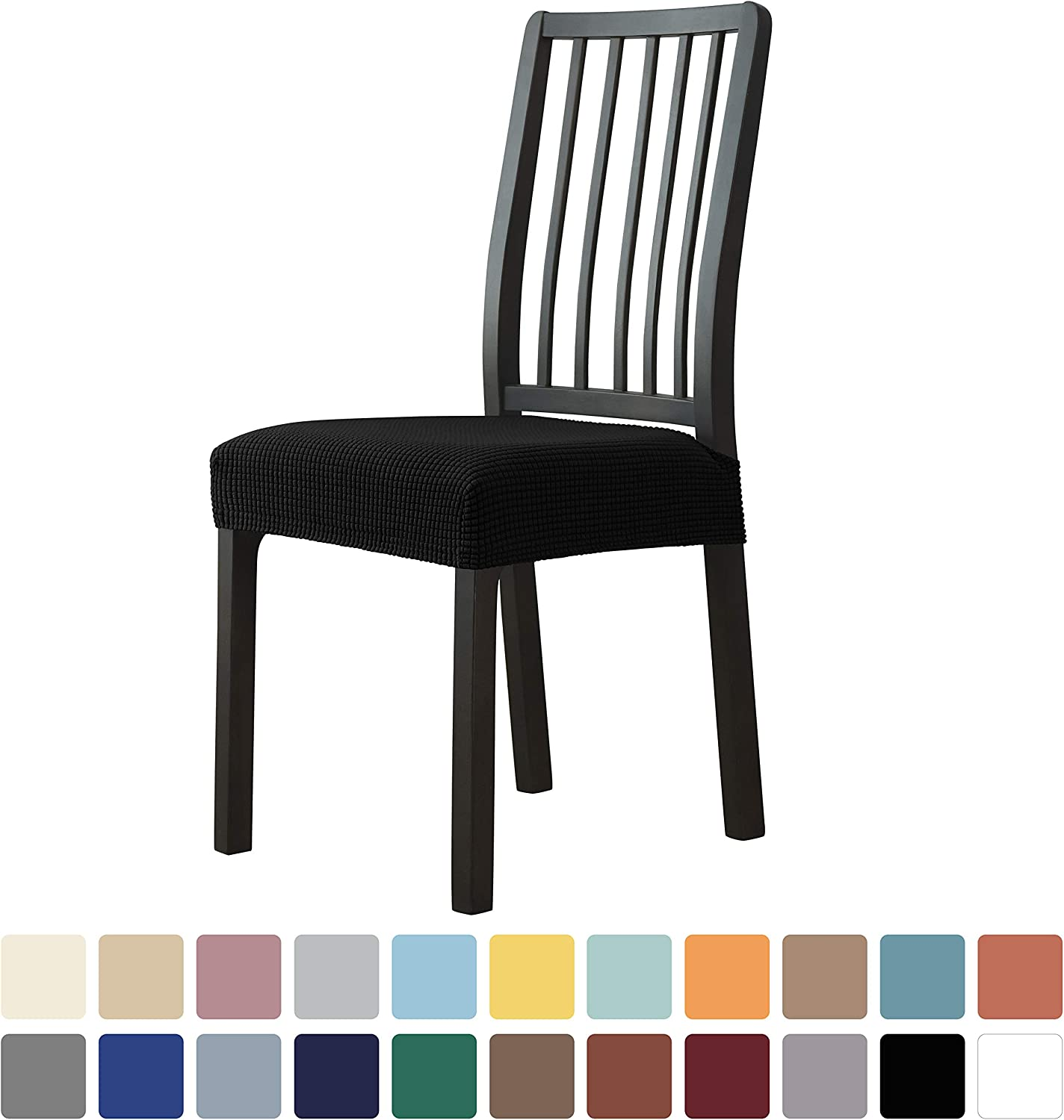 Milaran Dining Chair Seat Stretch Slipcover Jacquard Soft Free shipping Store