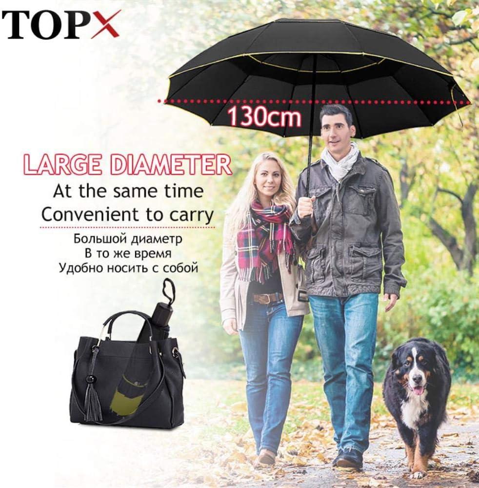 130cm Double Strong Wind Resistant Umbrella Rain Women Large Folding Non-automatic Umbrellas Men Family Travel Business Paraguas