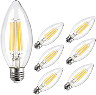 LED Light Bulb, CMYK Non-Dimmable 4W C35 Antique Edison Screw LED Filament Bulbs 40W Incandescent Replacement for Decorate...