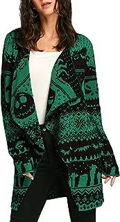 Women's Christmas Knit Open Front Long Sleeve Cardigan