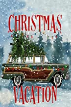Christmas Vacation Station Wagon with Tree Decorative Garden Flag, Double Sided, 12