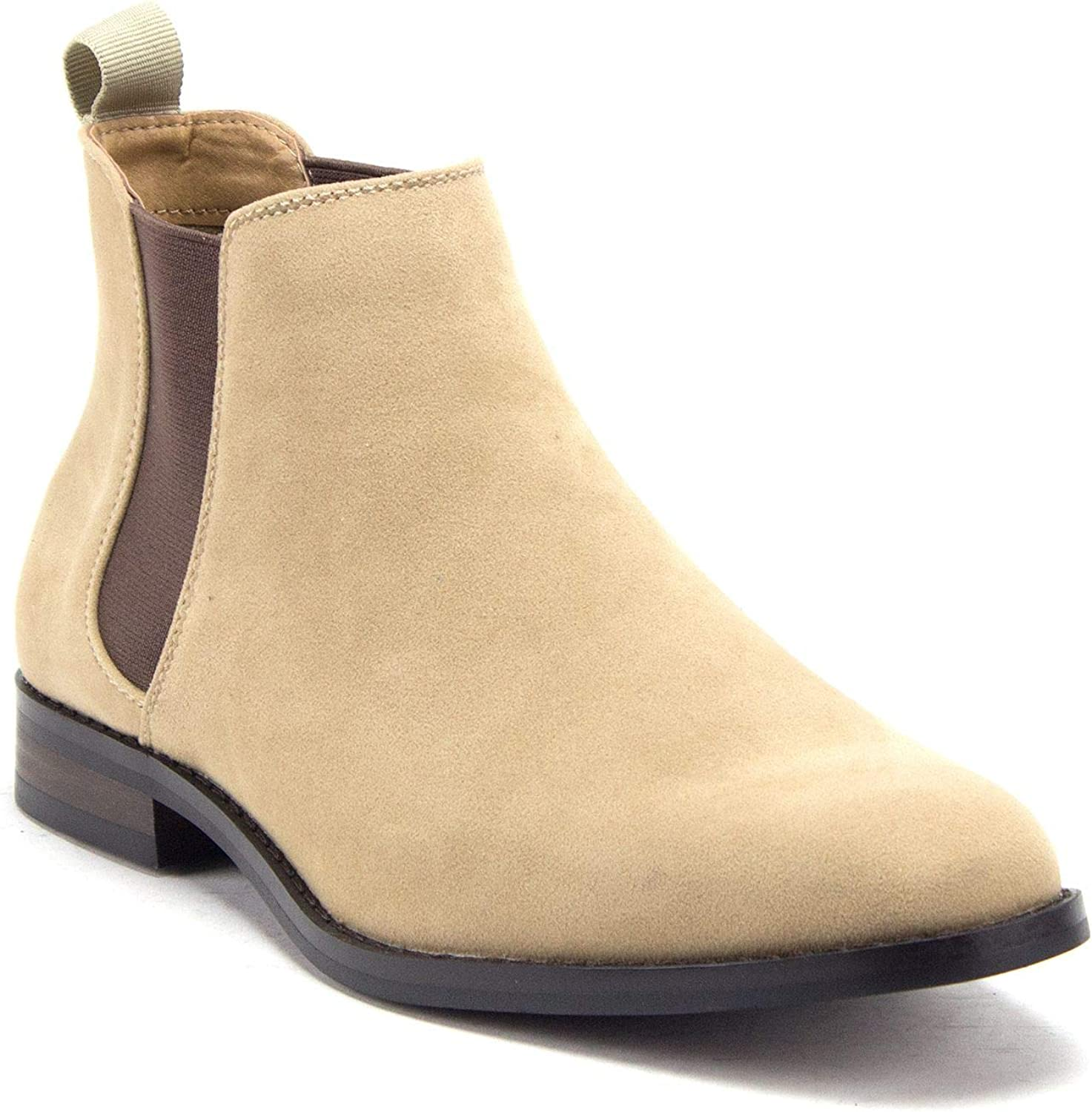 Men's Time sale B-2963 Chuck Nubuck Suede Pull-On Chelsea Round Outlet sale feature Boots Toe