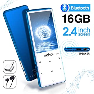 MYMAHDI MP3 Player with Bluetooth 4.2, Touch Buttons with 2.4 inch Screen, 16GB Portable Lossless Digital Audio Player wit...