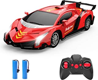 Remote Control Car, Holyton RC Toy Cars 2. 4GHz, 1/18 Scale Electric Model Vehicle for Kids and Toddler, with LED Lightnin...