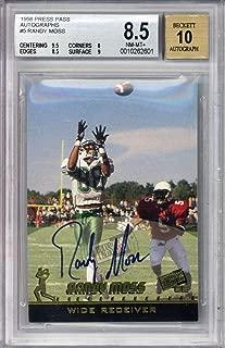 Randy Moss Signed Auto 1996 Press Pass Autographs Rookie Card Beckett BGS 8.5 10 - Beckett Authentication