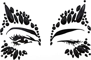 black Face Jewels crystal Gems face tattoo sticker Bindi Body Jewelry Stickers black cat women Rhinestone Tattoo Temporary Face gems for halloween