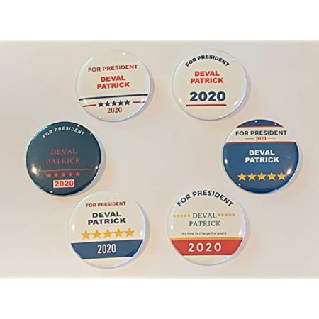 """Deval Patrick Official 2020 For President 2/"""" Logo Campaign Pin Pinback Button"""