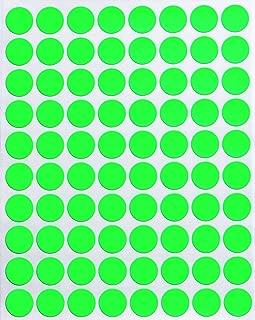 Royal Green Dot Stickers Neon Green 1/2