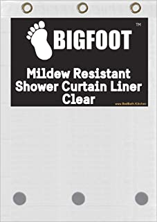 BigFoot Shower Curtain Liner – 72 x 72 PEVA Heavy Duty...
