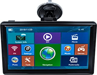 E-ACE GPS Navigation for Car 7 Inch Touch Screen 8GB Vehicle GPS Navigator System Spoken Turn-by-Turn Directions,GPS for Car with Free Lifetime Map Update