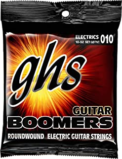 GHS Strings GBTNT Guitar Boomers, Nickel-Plated Electric Guitar Strings, Thin & Thick (.010-.052)