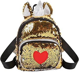 Threete High Grade Backpack Cute Unicorn Schoolbag for Teenage Student Girls Satchel Female Love Heart Ear Backpack