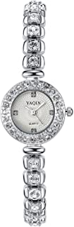 INWET Rhinestone Quartz Watch for Women,Small Dial,Crystal Indexes and Bracelet