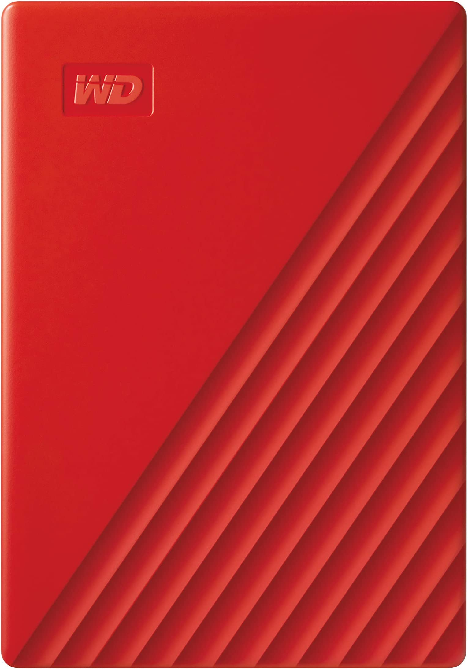 WD 4TB My Passport Portable External Hard Drive HDD, USB 2.0 Compatible, Red - WDBPKJ0040BRD-WESN
