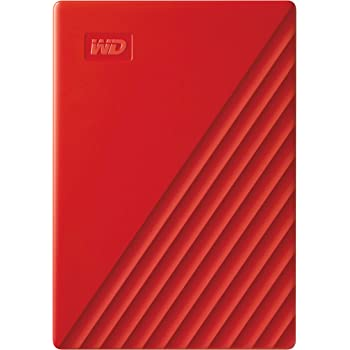 Western Digital WD 4TB My Passport Portable External Hard Drive, Red - with Automatic Backup, 256Bit AES Hardware Encryption & Software Protection