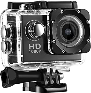 Smars 720P Sports Waterproof Camera with Micro SD Card Slot and Multi Language Action Video up to 30M 2 inch LCD Wide Angle(Random Colour)