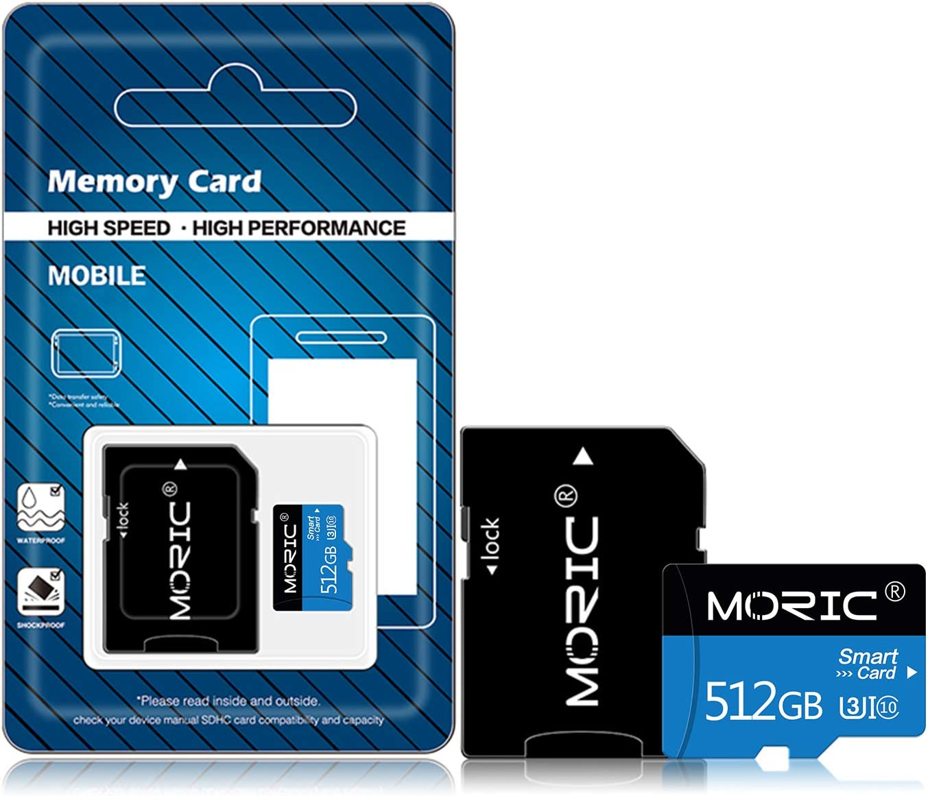 512GB Micro SD Card with Adapter Class 10 High Speed Memory Cards for Dash Cam,Surveillance, Drone