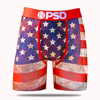 PSD Underwear Mens America '19 Athletic Boxer Briefs