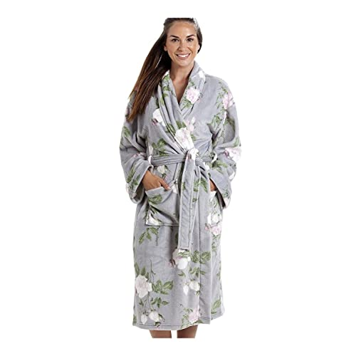 789ae12043f Camille Womens Ladies Various Style and Colour Soft Fleece Bathrobe