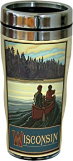 Tree-Free Greetings sg23295 Scenic Wisconsin Canoeing by Paul A. Lanquist Stainless Steel Sip 'N Go Travel Tumbler, 16-Oun...