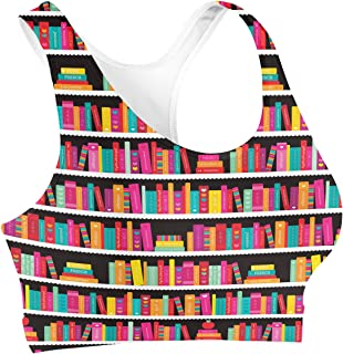 Rainbow Rules Library Book Case Sports Bra