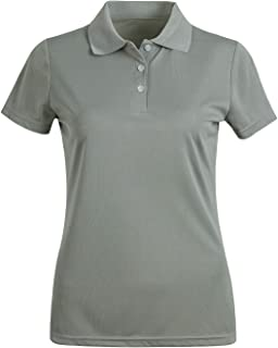 Women's Short Sleeve Polo Shirts Moisture Wicking Athletic Golf Polo Slim Fit