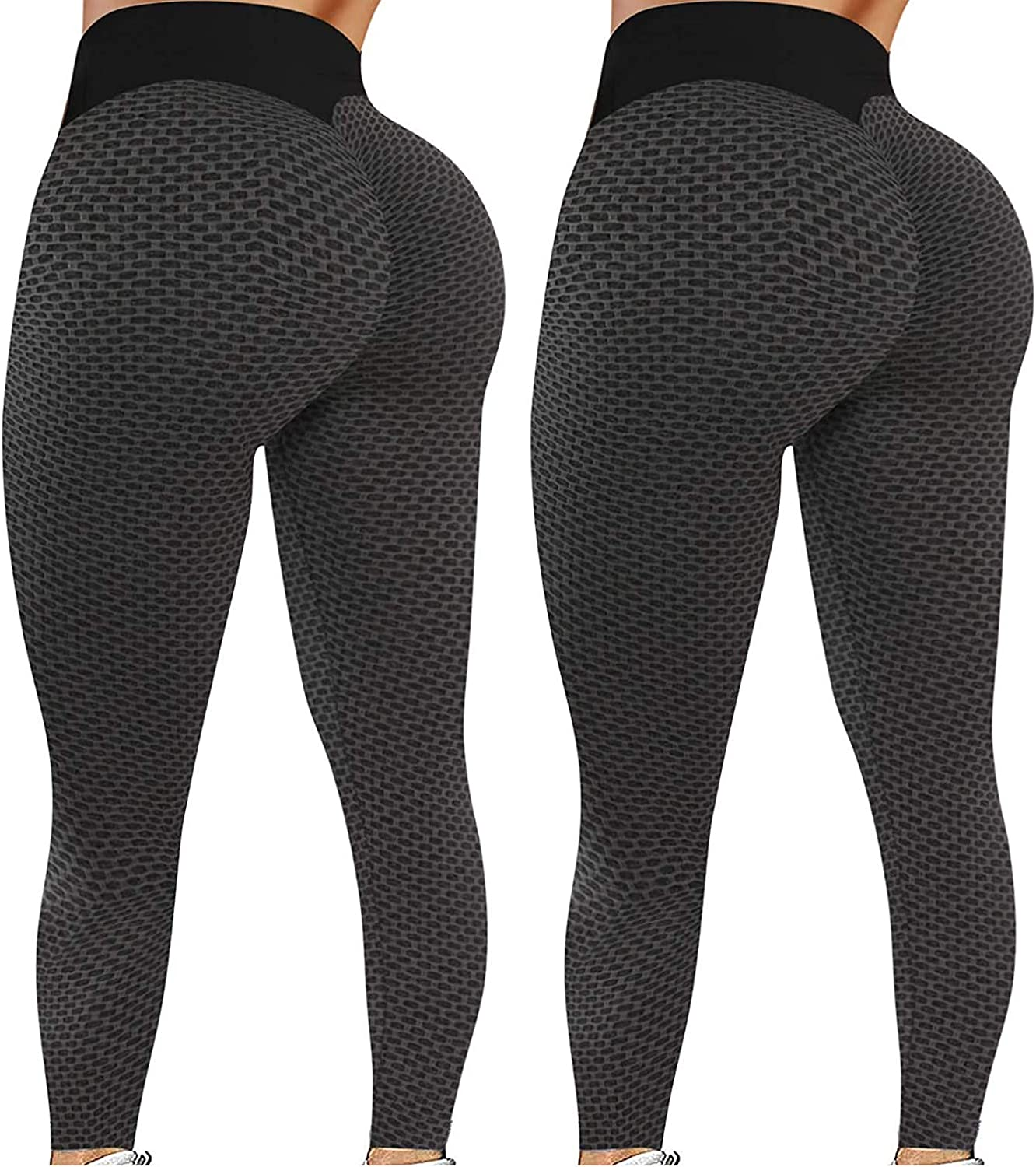 Wocachi High Waisted Leggings for Women, Butt Lifting Tummy Control Booty Womens Yoga Pants Workout Running Yoga Tights