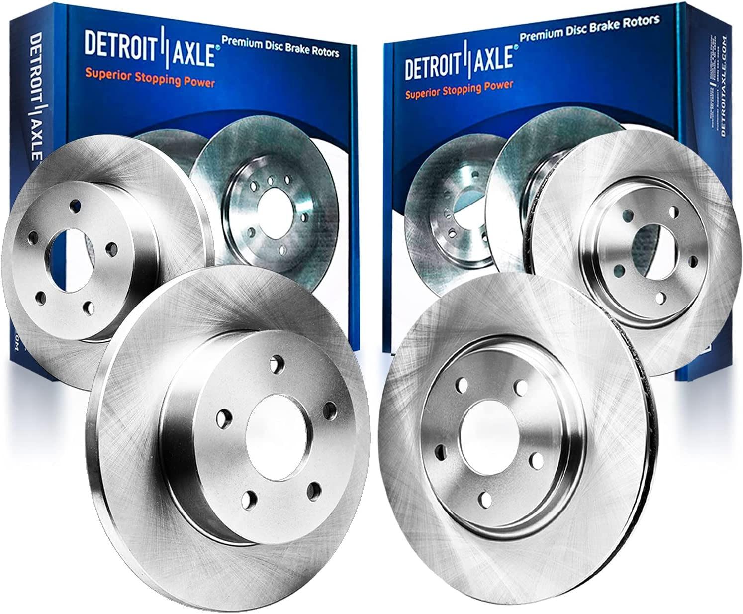 Detroit Axle - Front Rear Disc Rotors Brake 19 for quality assurance Replacement Challenge the lowest price of Japan