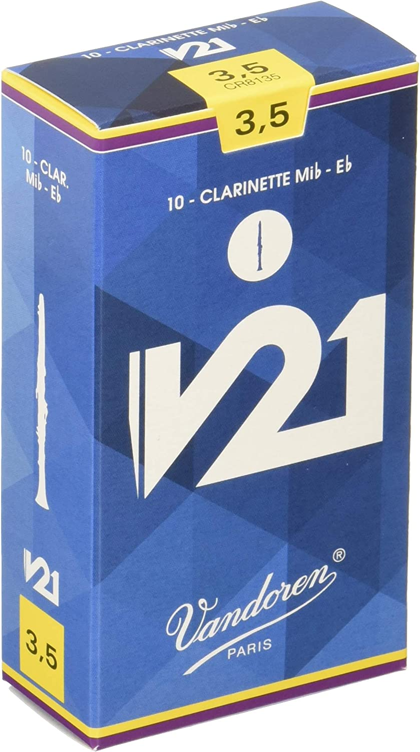 Vandoren Recommended CR8135 Bb Clarinet V21 Reeds of Strength Box 10 3.5; Max 54% OFF