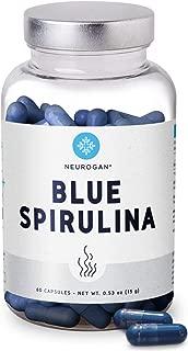 blue spirulina latte