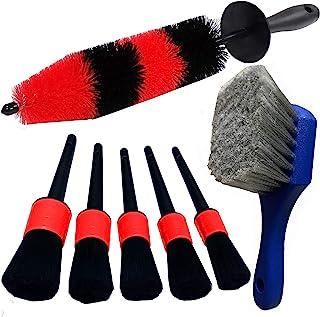 LUCKLYJONE 7Pcs Wheel & Tire Brush, car Detailing kit, 17inch Long Soft Wheel Brush 5..