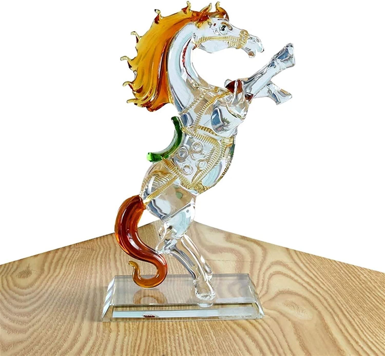 WYBFZTT-188 Crystal Glass Horse Regular dealer Collection Figurine Animal discount