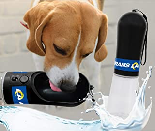 DOG Water Bottle. NFL LOS ANGELES RAMS PET WATER BOTTLE. BEST Cat Water Bottle. Water Fountain Dispenser for DOGS & CATS.