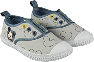 d5407ff14d Disney Mickey Mouse 2300002884 Chaussons Sneaker Fille, Baskets Mode,  Toile, Gris