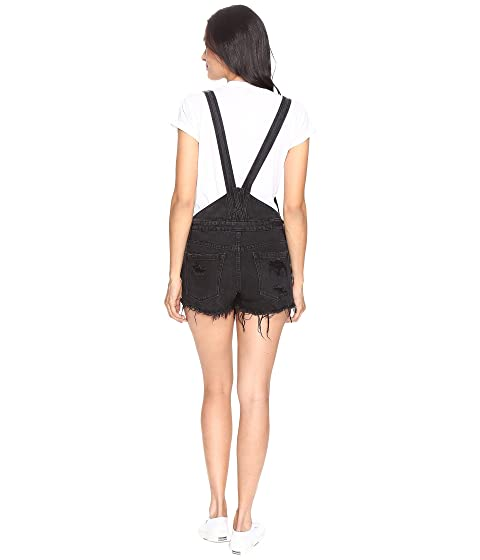 Steady in Rock Blank Cut Overalls Black Off NYC FxBzFO