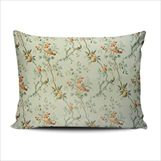 Fanaing Bedroom Custom Decor Vintage Floral of 18Th Century Green Pillowcase Throw Pillow Cover Cushion Case Fashion Design One Side Printed Standard 20x26 Inches