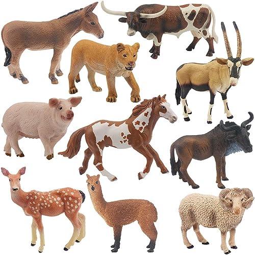 toma Yousheng Wildlife World Zoo Juguetes para Niños Niños Niños Modelo de simulación Juego Animales Salvajes Juego pequeño de 10 Piezas (Tamaño   B)  ordenar ahora