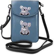 Lovehuangshi Cute Australia Koala Bear Women Lightweight Leather Small Crossbody Cell Phone Purse Lightweight Leather Wallet Bags