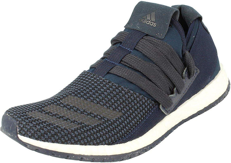 Adidas Pureboost R M Unisex Running Trainers Sneakers (UK 4 US 4.5 EU 36 2 3, Dark bluee White Bb0814)